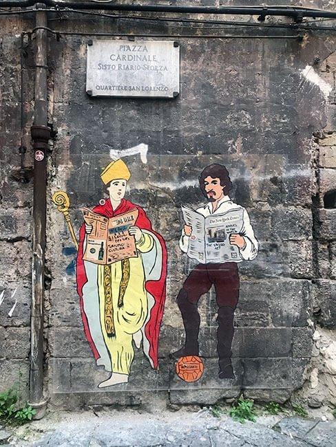 El arte urbano en las calles de Nápoles