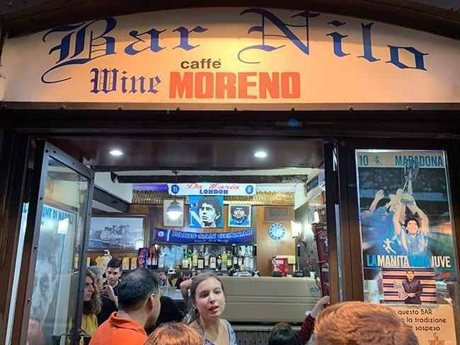 Bar Nilo en Nápoles, Iglesia de Maradona