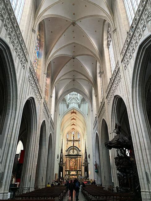 La catedral de Amberes, Bélgica