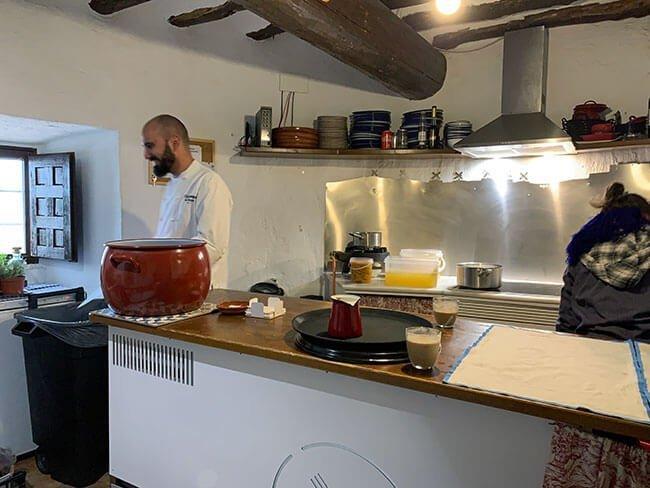 Cocina del Gastromolino de Consuegra