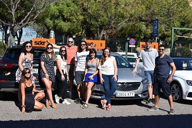 El grupo de bloggers que fuimos al surf camp (foto de www.nadaIncluido.com)