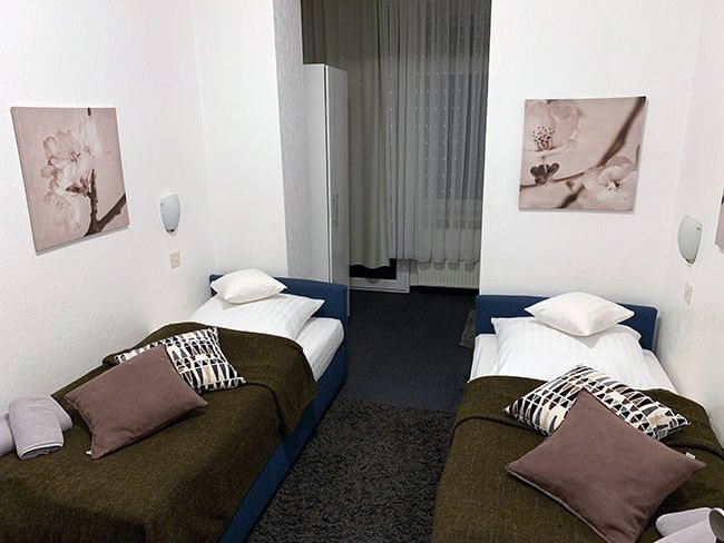 Habitación de nuestro hotel en Colonia (Alemania)