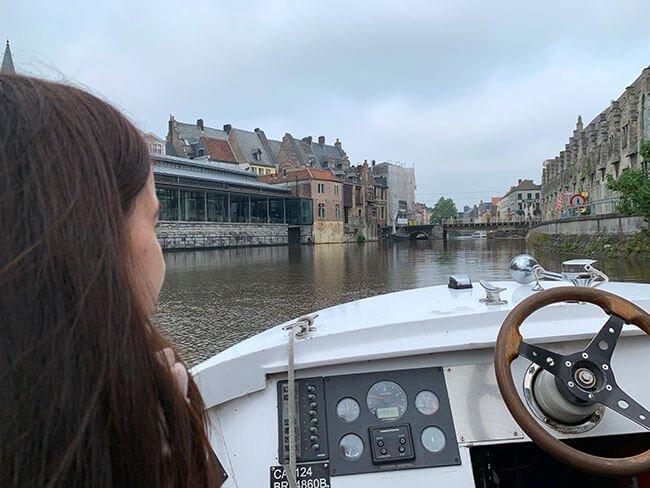 Paseo en barco por los canales de Gante