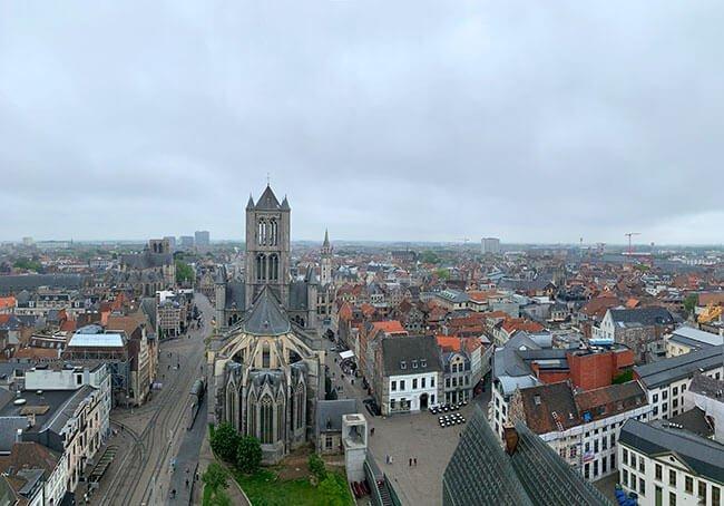 Panorámica de Gante desde la Torre Belfort