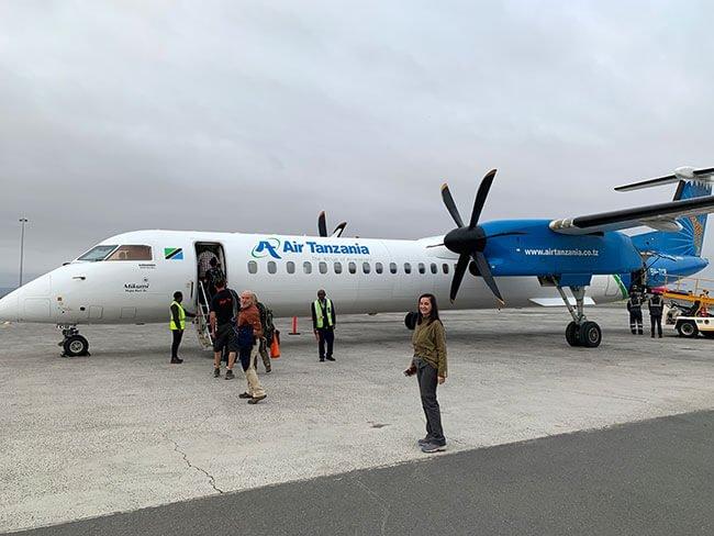 Avión de Air Tanzania