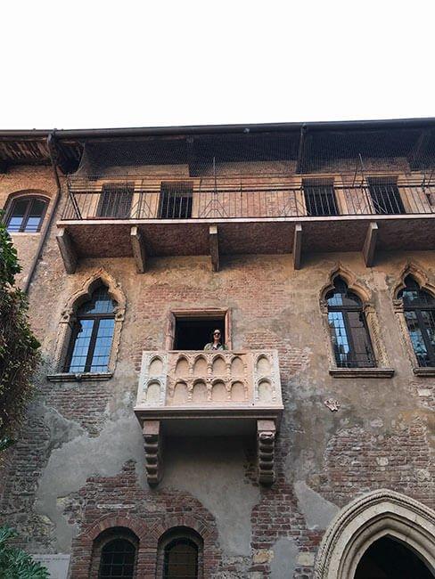Balcón de Giuletta en Verona