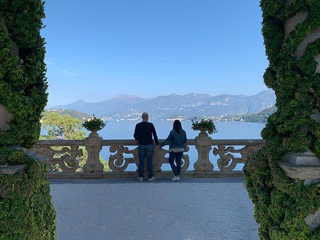 Las bonitas vistas desde Villa del Balbianello