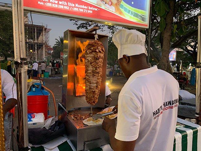 Puesto de Shawarma en Stone Town