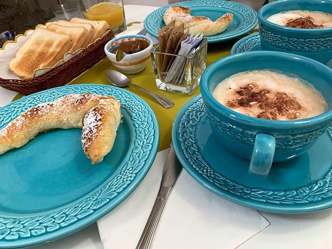 El desayuno casero en el Montedidio Unoè B&B