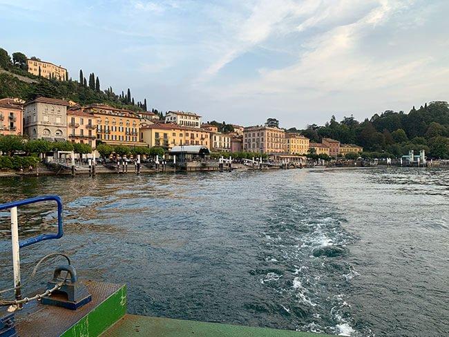 Nuestro ferry hasta Varenna
