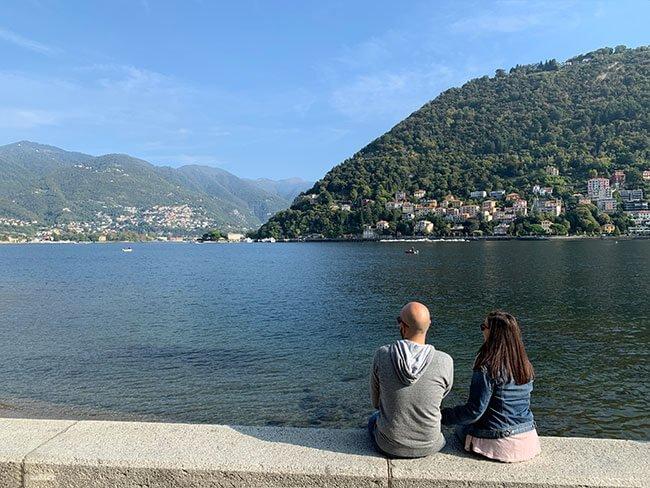 Lago di Como en el norte de Italia