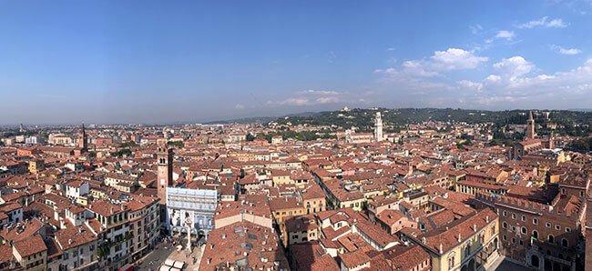 Vistas desde la torre dei Lamberti