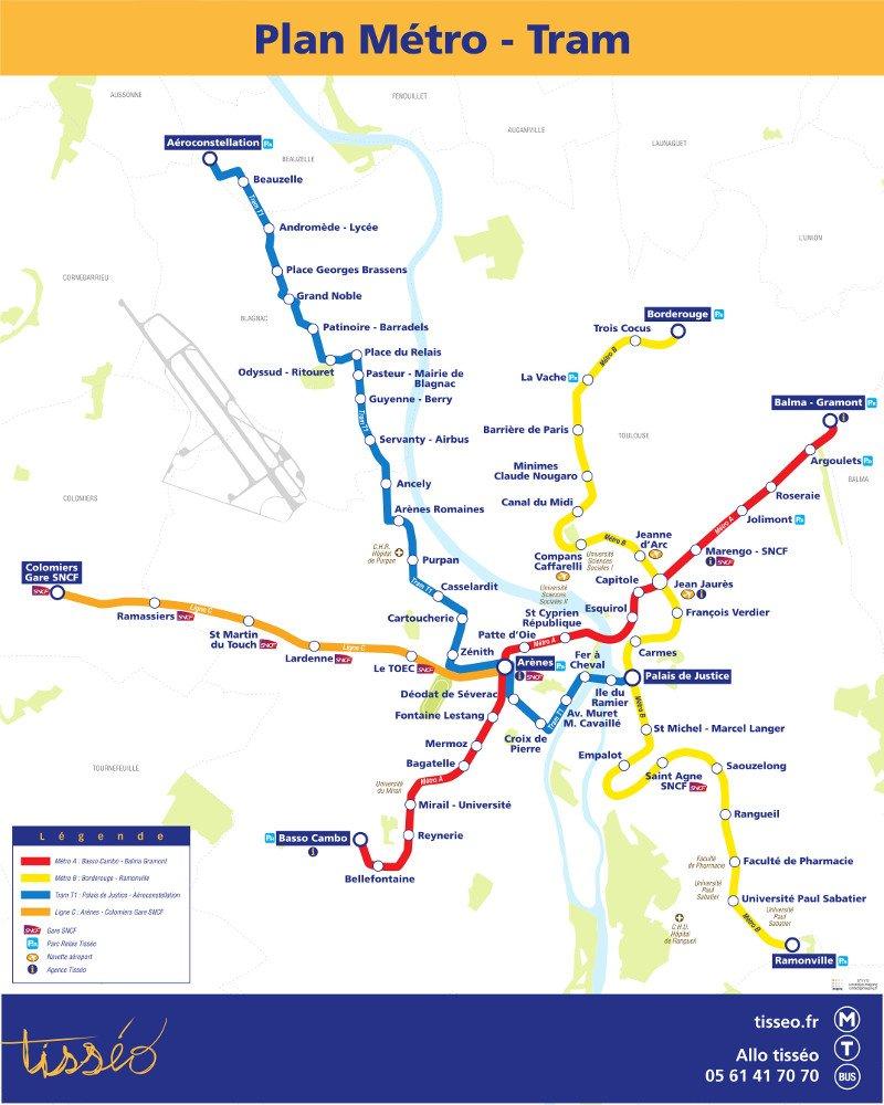 Mapa transporte público Toulouse