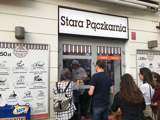 Tienda de Paczek en Varsovia