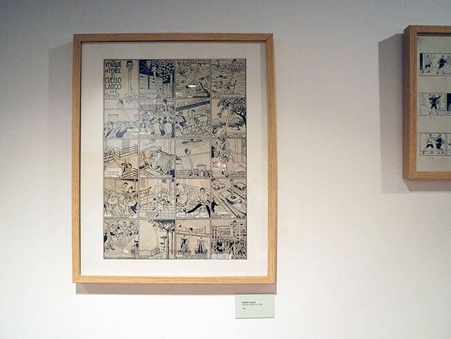 Una de las piezas originales del Museo del Cómic de Sant Cugat del Vallés