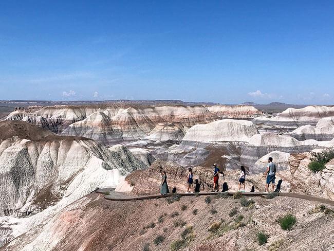 Iniciando el trail en Blue Mesa
