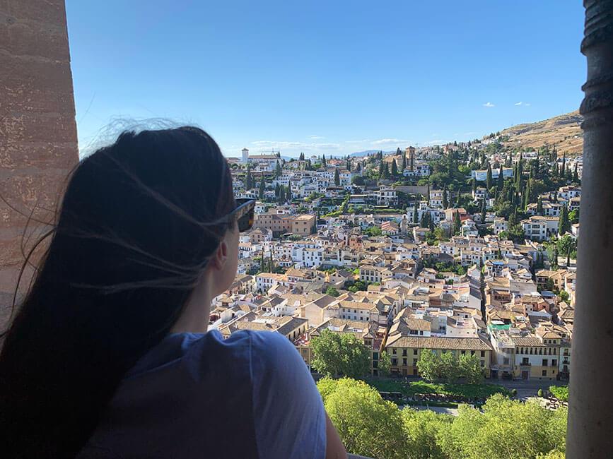 Las vistas del barrio del Albaicín