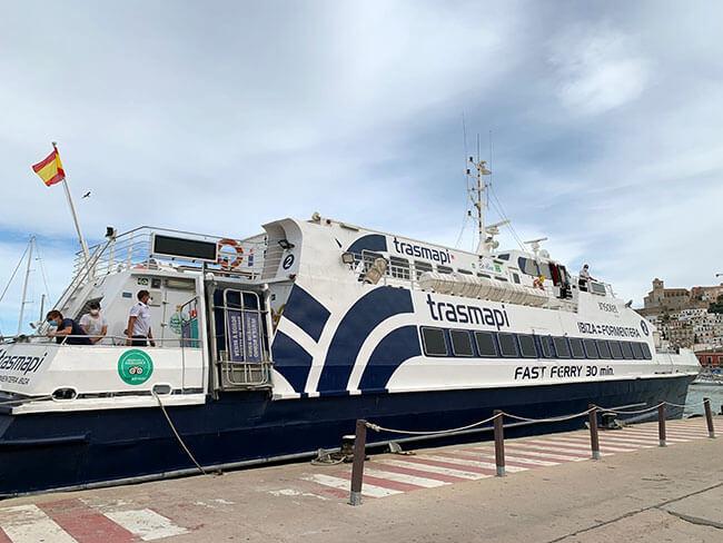 Ferry de Trasmapi que hace el recorrido de Ibiza a Formentera
