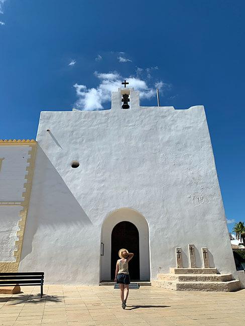 La iglesia de Sant Francesc en Formentera