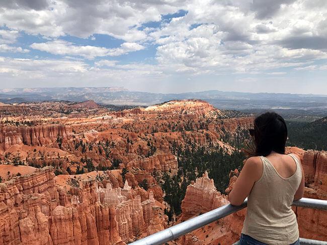 Uno de los preciosos miradores de Bryce Canyon
