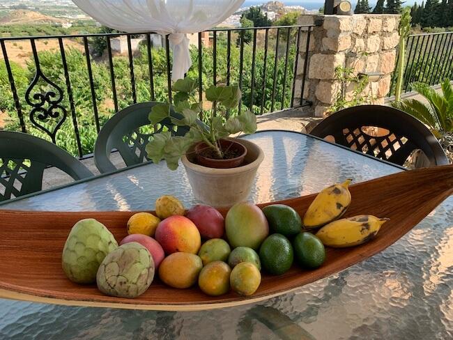 Una selección de frutas tropicales de la zona de Granada