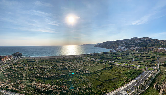 Las vistas de la costa desde el Castillo de Salobreña