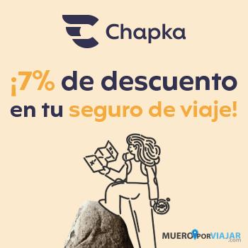 Descuento 7% en seguro de viaje chapka