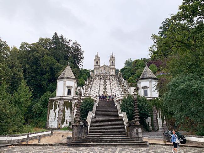 El santuario de Bom Jesus do Monte en Portugal