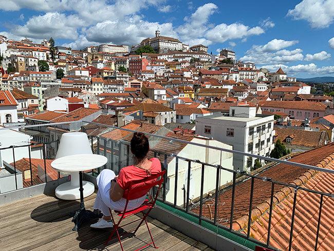 La universidad de Coimbra y el casco antiguo de la ciudad