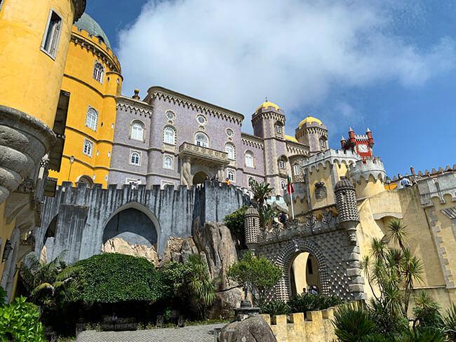 El espectacular Palacio Nacional da Pena en Sintra