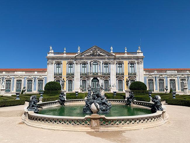 Jardines del Palácio de Monserrate en Portugal