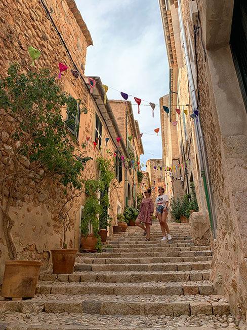 El pueblo de Fornalutx en Mallorca